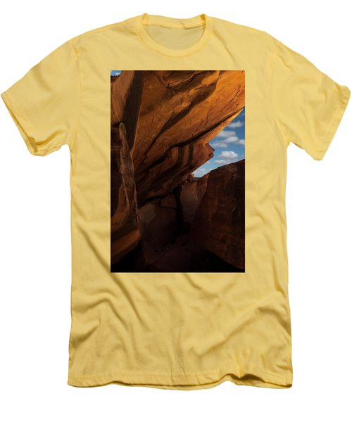 House On Fire Look Through Men's T-Shirt (Slim Fit) by Gary Warnimont