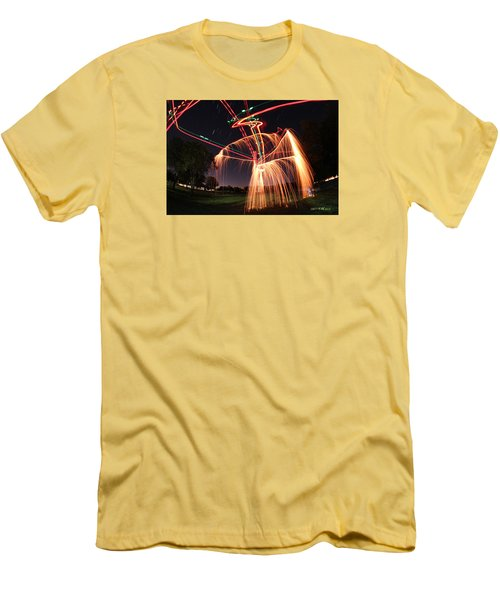 Hula Dancer Men's T-Shirt (Slim Fit) by Andrew Nourse