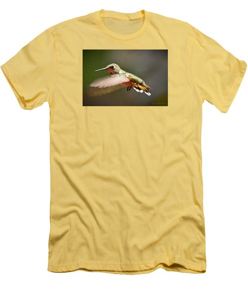 Hummingbird Facing Left Men's T-Shirt (Athletic Fit)