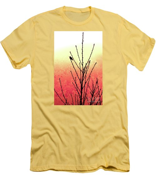 Hummingbird Peach Tree Men's T-Shirt (Athletic Fit)