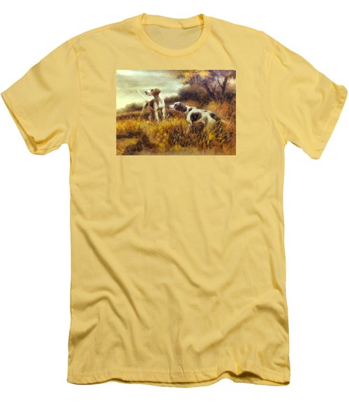 Men's T-Shirt (Slim Fit) featuring the digital art Hunting Dogs No1 by Charmaine Zoe