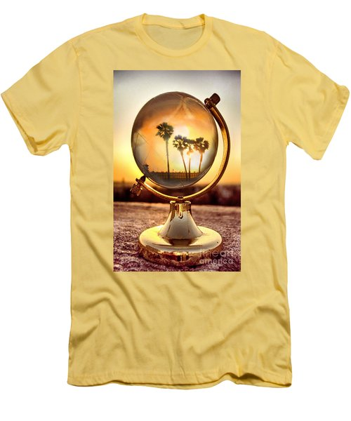 Huntington Beach Globe Men's T-Shirt (Athletic Fit)