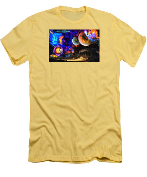 Hyperactivity Sector X66 In The Andromeda Gallaxy Men's T-Shirt (Slim Fit) by Mario Carini