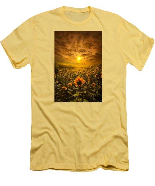 I Believe In New Beginnings Men's T-Shirt (Slim Fit) by Phil Koch