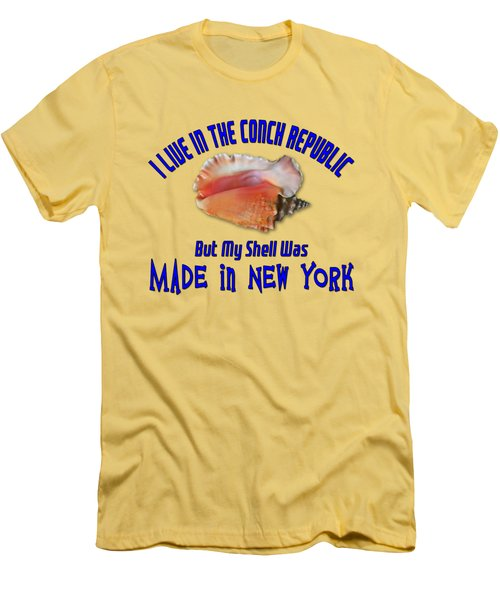 I Live In The Conch Republic Men's T-Shirt (Athletic Fit)