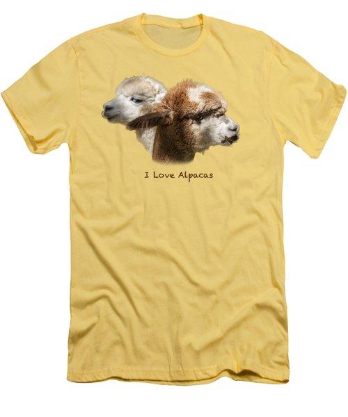 I Love Alpacas Men's T-Shirt (Athletic Fit)
