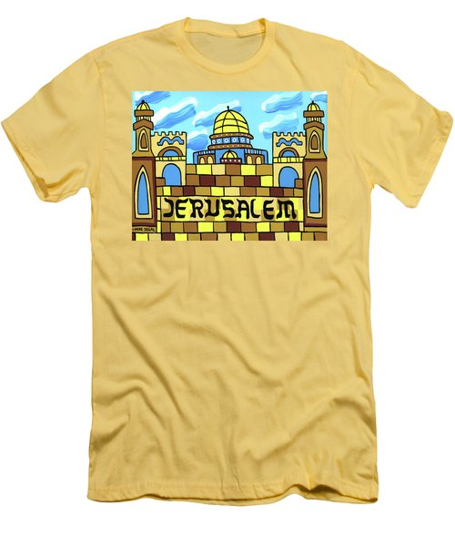 I Love Jerusalem Men's T-Shirt (Athletic Fit)