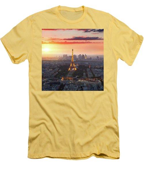 I Love Paris Men's T-Shirt (Athletic Fit)