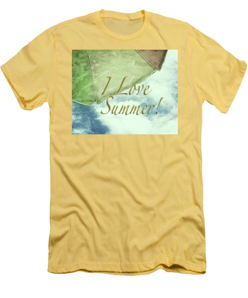I Love Summer I Men's T-Shirt (Slim Fit) by Marianne Campolongo