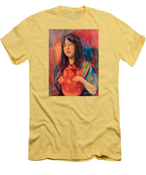 Men's T-Shirt (Slim Fit) featuring the painting I Want This Jug by Marcia Dutton
