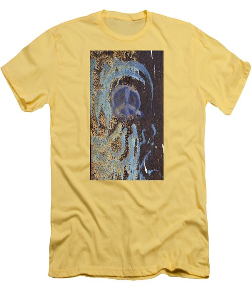I Wish You Peace - Graffiti Men's T-Shirt (Slim Fit) by Jane Eleanor Nicholas