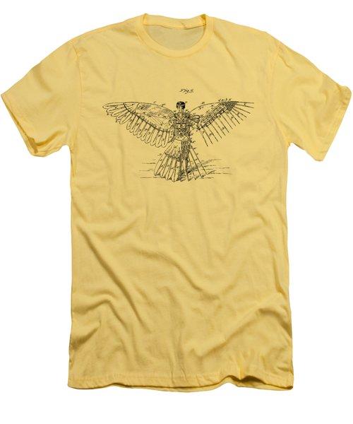 Icarus Human Flight Patent Artwork - Vintage Men's T-Shirt (Athletic Fit)