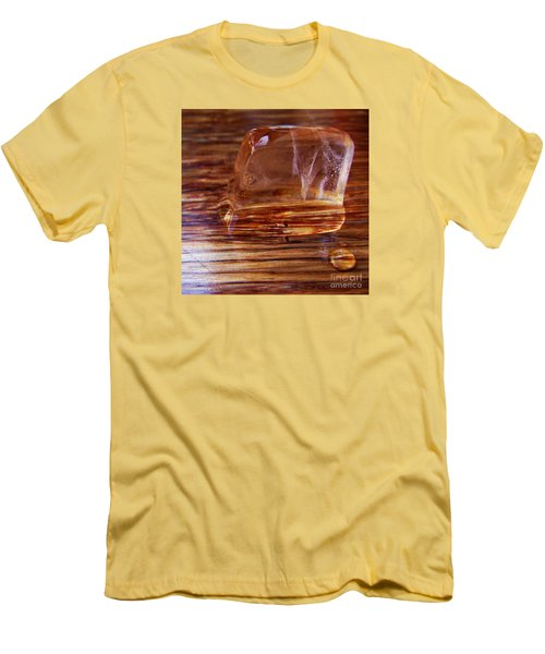Men's T-Shirt (Slim Fit) featuring the photograph Icecube Trail by Vanessa Palomino