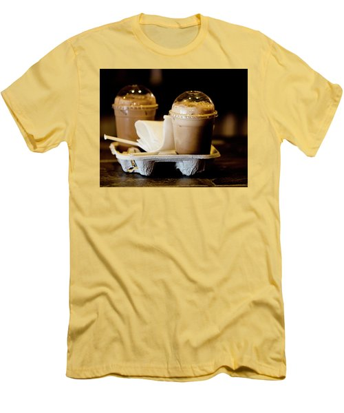 Iced Caramel Coffee Men's T-Shirt (Athletic Fit)