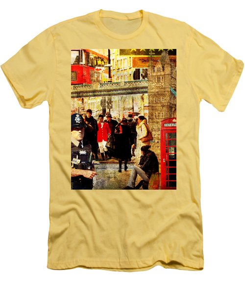 Iconic London Men's T-Shirt (Slim Fit) by Judi Saunders