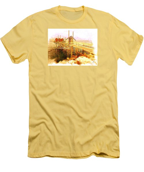 Il Grande Trabucco - Trebuchet Fishing Men's T-Shirt (Slim Fit) by Zedi
