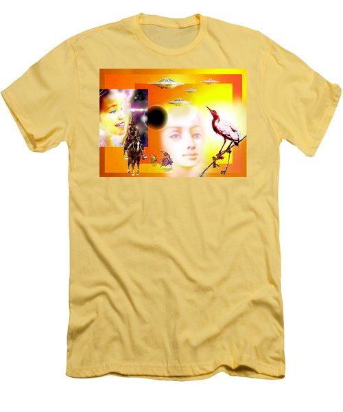 Illusion  Of Reality Men's T-Shirt (Slim Fit) by Hartmut Jager