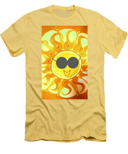Men's T-Shirt (Athletic Fit) featuring the painting I'm Too Hot For My Shades by Denise Fulmer