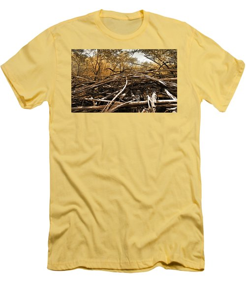 Men's T-Shirt (Slim Fit) featuring the photograph Impenetrable by Steve Sperry