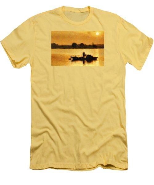 Impressionist Dawn Men's T-Shirt (Slim Fit) by Cameron Wood