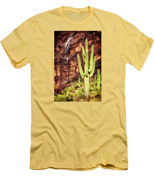In A Dry And Thirsty Land Men's T-Shirt (Slim Fit) by Rick Furmanek