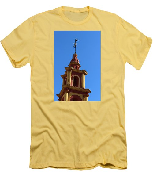 In Mexico Bell Tower Men's T-Shirt (Slim Fit) by Cathy Anderson
