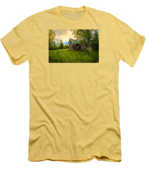 Men's T-Shirt (Slim Fit) featuring the photograph In Peace In Your Grace by Rose-Maries Pictures
