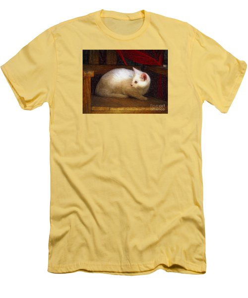 Men's T-Shirt (Slim Fit) featuring the photograph In The Chair by John  Kolenberg