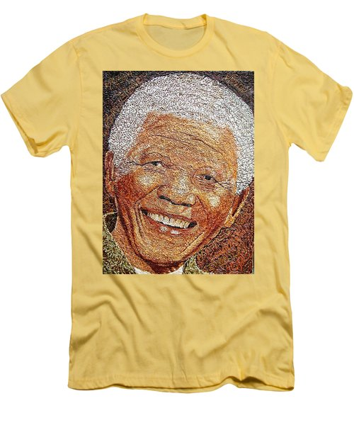 Nelson Mandela - In The Pyramid Of Our Minds Men's T-Shirt (Slim Fit) by Bankole Abe