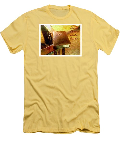 In The Volume Of The Book Men's T-Shirt (Slim Fit) by Glenn McCarthy Art and Photography