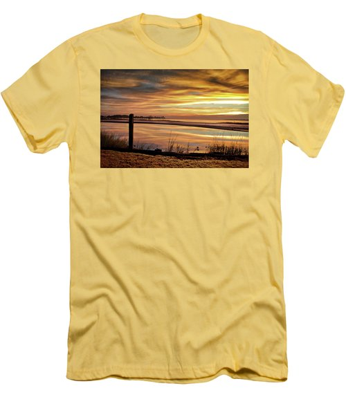 Inlet Watch At Dawn Men's T-Shirt (Slim Fit) by Phil Mancuso