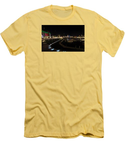 Inner Harbour Of Victoria Bc Men's T-Shirt (Slim Fit) by Marilyn Wilson