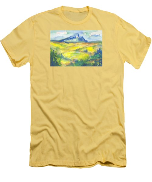 Inspired By Cezanne Men's T-Shirt (Slim Fit) by Connie Schaertl