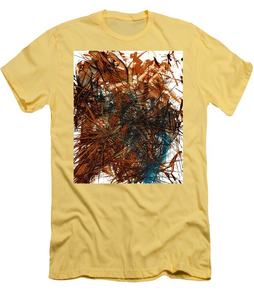 Intensive Abstract Expressionism Series 46.0710 Men's T-Shirt (Slim Fit) by Kris Haas