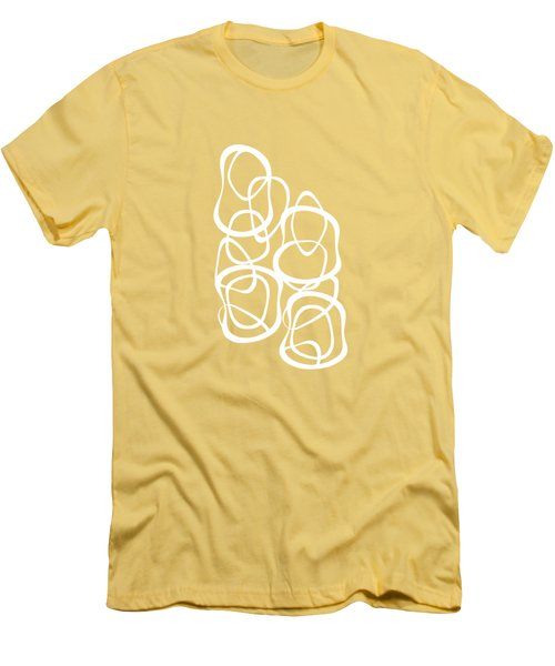 Interlocking - White On Coffee - Pattern Men's T-Shirt (Athletic Fit)