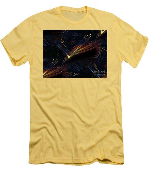 Meditative Vision Men's T-Shirt (Slim Fit) by Yul Olaivar