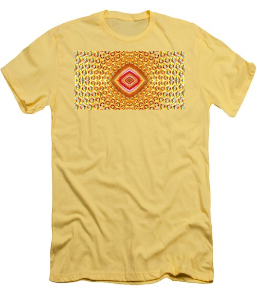 Men's T-Shirt (Athletic Fit) featuring the digital art Into The Centre - Horizontal by Wendy Wilton
