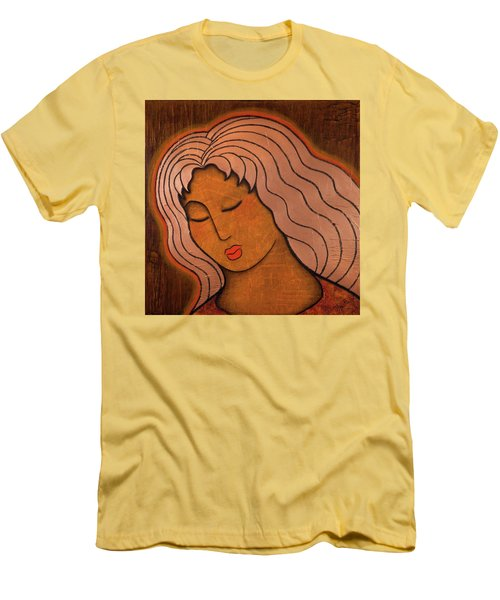 Men's T-Shirt (Slim Fit) featuring the mixed media Intuitive Listening by Gloria Rothrock