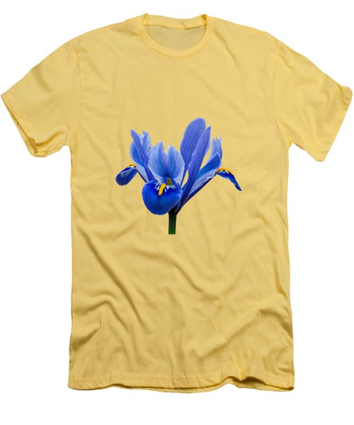 Men's T-Shirt (Slim Fit) featuring the photograph Iris Recticulata Transparent Background by Paul Gulliver