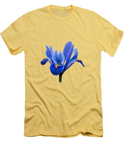 Iris Recticulata Transparent Background Men's T-Shirt (Athletic Fit)