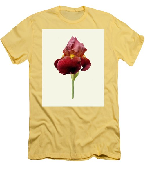 Men's T-Shirt (Slim Fit) featuring the photograph Iris Vitafire Cream Background by Paul Gulliver