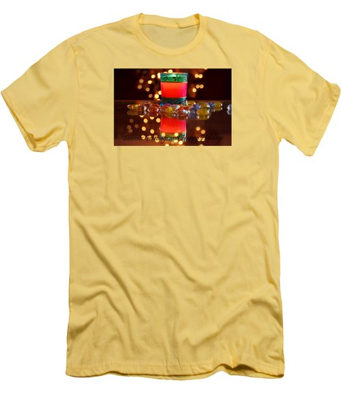 Men's T-Shirt (Slim Fit) featuring the photograph It Feels Like Christmas by Rima Biswas