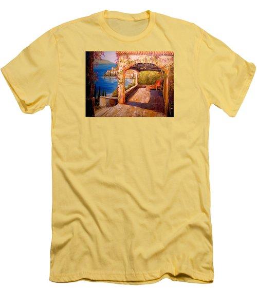 Italian Villa  Men's T-Shirt (Slim Fit) by Alan Lakin