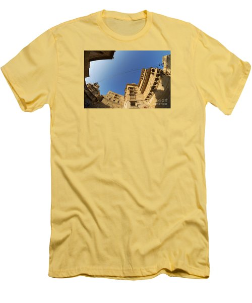 Men's T-Shirt (Athletic Fit) featuring the photograph Jaisalmer Fort by Yew Kwang