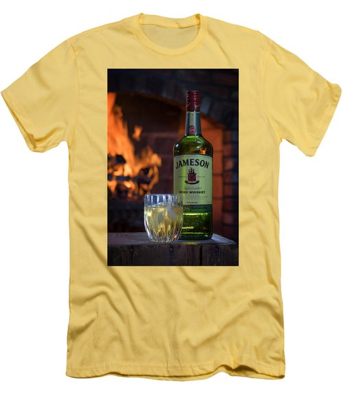 Jameson By The Fire Men's T-Shirt (Slim Fit) by Rick Berk