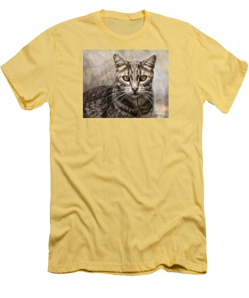 Janie's Kitty Men's T-Shirt (Slim Fit) by Rhonda Strickland