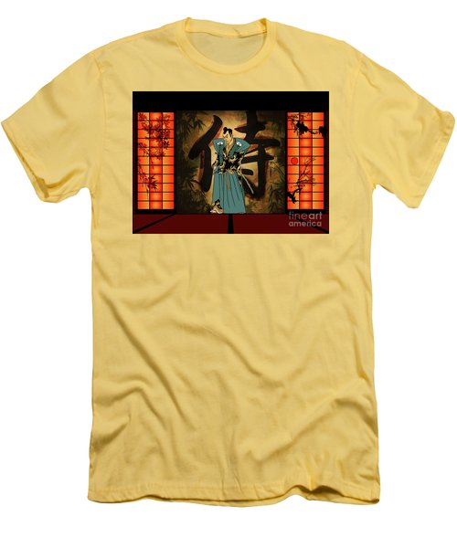 Men's T-Shirt (Slim Fit) featuring the drawing Japanese Style by Andrzej Szczerski