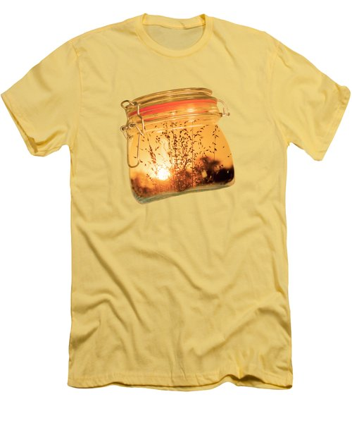 Men's T-Shirt (Slim Fit) featuring the photograph Jar Full Of Sunshine by Linda Lees