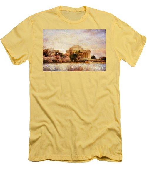 Jefferson Memorial Just Past Dawn Men's T-Shirt (Athletic Fit)
