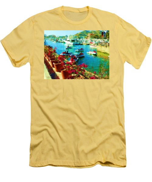 Jet Skis And Flowers Men's T-Shirt (Slim Fit) by Gerhardt Isringhaus